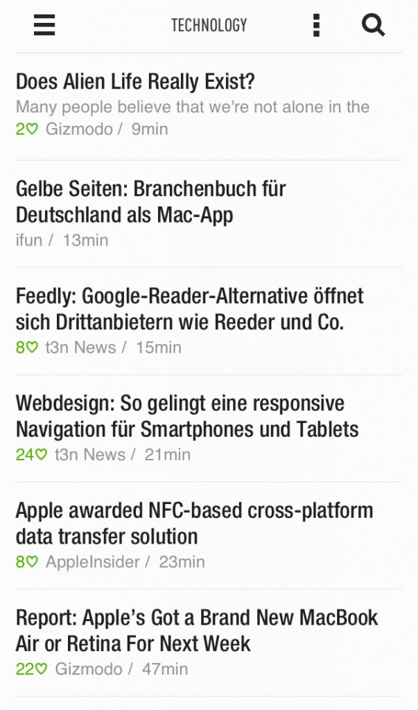 List View Feedly